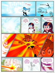 Size: 822x1086   Tagged: safe, artist:crydius, scootaloo, oc, oc:eldritch, oc:gamma, comic:the first year's dodgeball competition, equestria girls, chara, comic, equestria girls-ified, magical lesbian spawn, offspring, parent:oc:crydius, parent:sci-twi, parent:sunset shimmer, parent:tempest shadow, parents:canon x oc, parents:crydiusshadow, parents:scitwishimmer, shot, undertale, xk-class end-of-the-world scenario