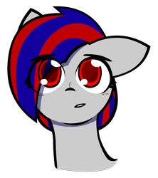 Size: 1331x1500   Tagged: safe, artist:darksoma, oc, oc:darksun, pegasus, blushing, cute, front facing, liam and darksun, project dark, red eyes, simple background, solo, transparent background