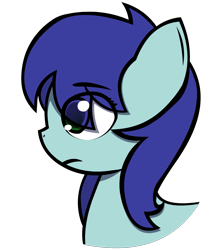 Size: 1331x1500   Tagged: safe, artist:darksoma, oc, oc:dreamer, earth pony, pony, bust, portrait, project uncanon, questionable gender, solo