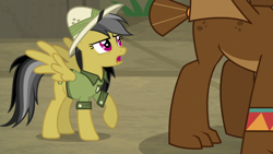 Size: 1920x1080 | Tagged: safe, screencap, daring do, gargoyle, guardiangoyle, daring doubt