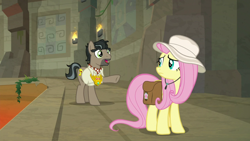 Size: 1920x1080 | Tagged: safe, screencap, doctor caballeron, fluttershy, daring doubt, truth talisman