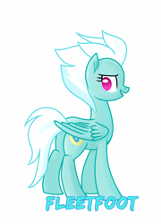 Size: 2154x2993 | Tagged: safe, artist:eclipsaaa, fleetfoot, pegasus, pony, female, mare, simple background, solo, wonderbolts