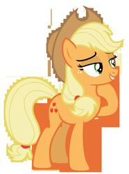 Size: 5198x7000 | Tagged: safe, artist:estories, applejack, earth pony, pony, absurd resolution, cowboy hat, female, freckles, hat, lidded eyes, mare, raised hoof, simple background, stetson, transparent background, vector