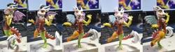 Size: 1920x576   Tagged: safe, artist:kp-shadowsquirrel, artist:samsculpt, discord, anthro, draconequus, eris, rule 63, statue