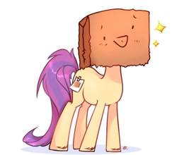 Size: 1620x1425 | Tagged: safe, artist:kestr-deord, oc, oc:paper bag, earth pony, fake cutie mark, simple background, stars, white background