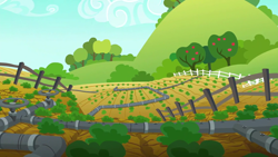 "Size: 1280x720 | Tagged: safe, screencap, applejack's ""day"" off, background, no pony, scenic ponyville, sweet apple acres"