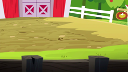 "Size: 1280x720 | Tagged: safe, screencap, applejack's ""day"" off, background, barn, no pony, scenic ponyville, sweet apple acres"