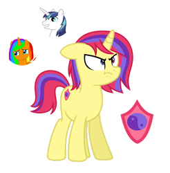 Size: 1280x1301 | Tagged: safe, artist:tenderrain46, shining armor, oc, pony, unicorn, female, mare, simple background, transparent background