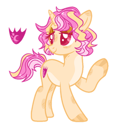 Size: 800x895 | Tagged: safe, artist:rose-moonlightowo, pony, unicorn, female, magical lesbian spawn, mare, offspring, parent:fluttershy, parent:sunset shimmer, parents:sunshyne, simple background, solo, transparent background