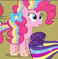 Size: 416x427   Tagged: safe, screencap, pinkie pie, twilight's kingdom, cropped, open mouth, rainbow power, rainbow power-ified, solo