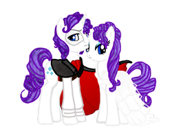 Size: 900x688 | Tagged: source needed, safe, artist:jaquelindreamz, rarity, pony, unicorn, clothes, costume, elusive, female, gaston leruox, male, mare, phantom of the opera, rarilusive, rule 63, self ponidox, selfcest, shipping, simple background, stallion, straight, transparent background