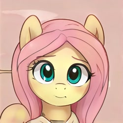 Size: 1024x1024 | Tagged: safe, artist:thisponydoesnotexist, oc, oc only, unnamed oc, pegasus, pony, artificial intelligence, bust, cute, female, looking at you, mare, neural network, not fluttershy, simple background, solo