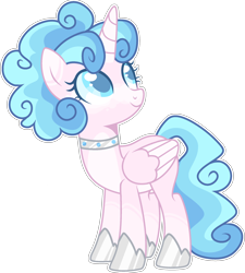 Size: 2202x2448 | Tagged: safe, artist:kurosawakuro, oc, alicorn, female, mare, offspring, parent:princess cadance, parent:shining armor, parents:shiningcadance, simple background, solo, transparent background