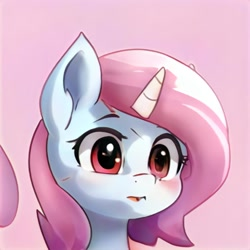 Size: 1024x1024 | Tagged: safe, oc, unicorn, artificial intelligence, neural network, simple background, this pony does not exist