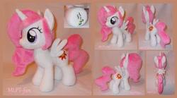 Size: 2280x1264 | Tagged: safe, artist:calusariac, princess celestia, pony, cewestia, female, filly, irl, photo, plushie, solo, younger