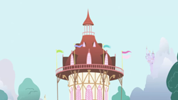 Size: 1280x720 | Tagged: safe, screencap, friendship is magic, background, no pony, ponyville, ponyville town hall, scenic ponyville