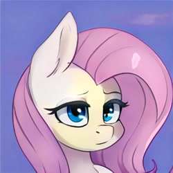 Size: 1024x1024 | Tagged: safe, artist:thisponydoesnotexist, fluttershy, neural network, solo