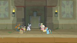 Size: 1920x1080 | Tagged: safe, screencap, biff, daring do, doctor caballeron, fluttershy, rainbow dash, rogue (character), withers, daring doubt, henchmen