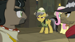Size: 1920x1080 | Tagged: safe, screencap, biff, daring do, doctor caballeron, fluttershy, daring doubt, henchmen