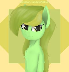 Size: 5000x5200 | Tagged: safe, artist:graphictoxin, oc, oc only, earth pony, pony, absurd resolution, bust, female, fluffy, lineless, mare, portrait, simple background, smiling, solo, trade