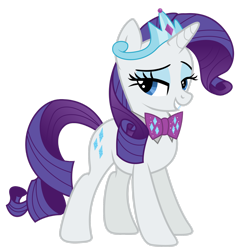 Size: 1920x2023 | Tagged: safe, artist:mycaro, rarity, unicorn, bowtie, bowties are cool, classy, crown, female, jewelry, princess, regalia, solo, tiara, vector