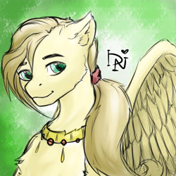 Size: 4000x4000 | Tagged: safe, artist:dark_nidus, oc, pegasus, pony, commission, jewelry, male, spread wings, stallion, wings, your character here