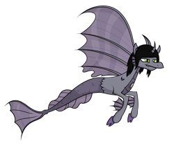 Size: 2257x1903 | Tagged: safe, artist:moonatik, oc, oc only, siren, commission, female, flying, scales, simple background, siren oc, solo, tired, transparent background