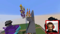 Size: 2560x1440 | Tagged: safe, human, canterlot, irl, irl human, minecraft, pewdiepie, photo, youtuber