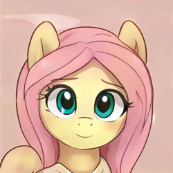 Size: 1024x1024   Tagged: safe, artist:thisponydoesnotexist, edit, editor:diego96, oc, unnamed oc, pegasus, pony, artificial intelligence, cute, female, neural network, not fluttershy, simple background, solo
