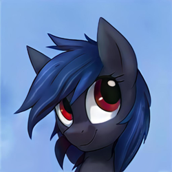 Size: 1024x1024 | Tagged: safe, artist:thisponydoesnotexist, oc, pony, artificial intelligence, bust, happy, male, neural network, portrait, solo, stallion