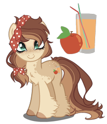 Size: 950x1100 | Tagged: safe, artist:gihhbloonde, oc, earth pony, pony, female, mare, offspring, parent:applejack, parent:caramel, parents:carajack, simple background, solo, transparent background