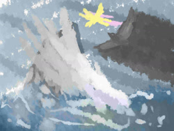 Size: 1600x1200   Tagged: safe, artist:ionipony, fluttershy, flying, scenery, solo
