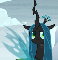 Size: 899x932 | Tagged: safe, screencap, queen chrysalis, frenemies (episode), cropped, cute, cutealis, frown, sad, solo