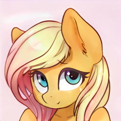 Size: 1024x1024   Tagged: safe, artist:thisponydoesnotexist, edit, editor:diego96, oc, anthro, artificial intelligence, female, neural network, not applejack, not fluttershy, nudity, simple background, solo