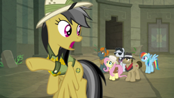 Size: 1920x1080 | Tagged: safe, screencap, biff, daring do, fluttershy, rainbow dash, rogue (character), withers, daring doubt, henchmen