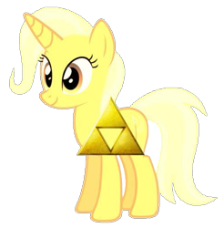 Size: 497x505 | Tagged: safe, artist:gracielarobles, trixie, 1000 years in photoshop, reference, the legend of zelda, triforce