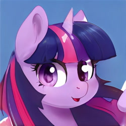 Size: 1024x1024   Tagged: safe, artist:thisponydoesnotexist, edit, editor:diego96, twilight sparkle, alicorn, pony, artificial intelligence, female, neural network, simple background, solo