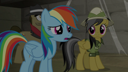 Size: 1920x1080 | Tagged: safe, screencap, biff, daring do, rainbow dash, daring doubt, henchmen