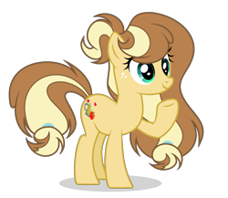 Size: 1909x1657 | Tagged: safe, artist:galaxyswirlsyt, oc, oc:apple pie, earth pony, pony, female, mare, offspring, parent:applejack, parent:caramel, parents:carajack, simple background, solo, transparent background