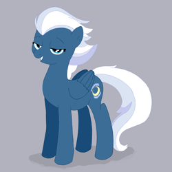 Size: 4000x4000   Tagged: safe, artist:knight lite, night glider, pegasus, pony, female, high res, lidded eyes, looking at you, mare, simple background, smiling, solo