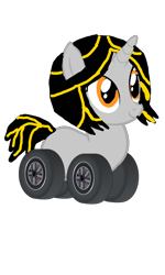 Size: 720x1199 | Tagged: safe, artist:electrahybrida, derpibooru exclusive, oc, oc:electra hybrida, original species, unicorn, wheelpone, cute, simple background, tire, tires, transparent background, wheel