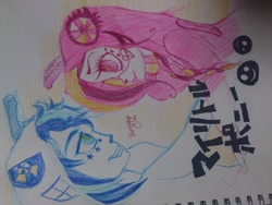 Size: 2048x1536 | Tagged: safe, artist:bunnyoxo, princess cadance, shining armor, crossover, doodle, matryoshka, shipping, song reference, traditional drawing, vocaloid
