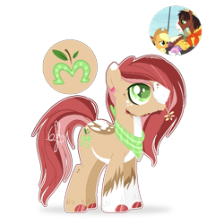 Size: 657x657 | Tagged: safe, artist:6-fingers-lover, applejack, trouble shoes, oc, oc:lucky hoof, earth pony, pony, male, offspring, parent:applejack, parent:trouble shoes, parents:troublejack, simple background, stallion, transparent background