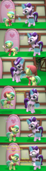 Size: 1736x6480 | Tagged: safe, artist:papadragon69, barley barrel, pickle barrel, starlight glimmer, 3d, barrel twins, brother and sister, candy, classic switcharoo, comic, food, lollipop, old master q, parody, reference, siblings, source filmmaker, twins