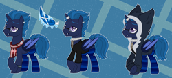 Size: 4900x2224 | Tagged: safe, artist:midnightamber, oc, oc only, oc:icey wicey, alicorn, bat pony, bat pony alicorn, pony, alicorn oc, badge, bat pony oc, bat signal, bat wings, batman, bone, bullet, clothes, collar, dc comics, ear piercing, earring, glasses, hoodie, horn, horn ring, jewelry, lip piercing, male, piercing, pin, ponysona, raised hoof, ring, scarf, shirt, skull, skull and crossbones, socks, solo, stallion, star wars, starfighter, stormtrooper, striped socks, tie fighter, union jack, wings, wristband