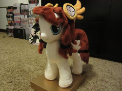 Size: 1600x1200 | Tagged: safe, artist:little-broy-peep, artist:terror--bite, artist:the--cloudsmasher, artist:thecloudsmasher, oc, oc:time pulse, pegasus, pony, clock, custom, female, irl, mare, photo, plushie, steampunk, toy
