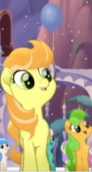 Size: 236x441 | Tagged: safe, screencap, cantaloupe (character), earth pony, pony, my little pony: the movie, background pony, cropped, female, mare, singing, unnamed character, unnamed pony, we got this together