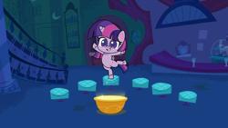 Size: 1920x1080 | Tagged: safe, screencap, twilight sparkle, alicorn, pony, campfire stories, my little pony: pony life, pony life, bipedal, cute, female, mare, solo, standing, standing on one leg, twiabetes, twilight sparkle (alicorn)