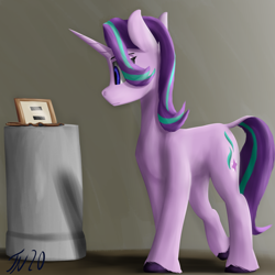 Size: 2000x2000 | Tagged: safe, artist:tenebrisnoctus, starlight glimmer, pony, unicorn, equal cutie mark, newbie artist training grounds, solo, staff, staff of sameness