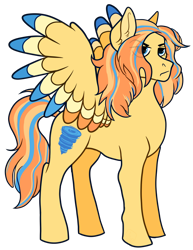 Size: 1024x1326 | Tagged: safe, artist:malphym, oc, oc:typhoon, pegasus, pony, colored wings, female, mare, multicolored wings, offspring, parent:soarin', parent:spitfire, parents:soarinfire, simple background, solo, transparent background, wings
